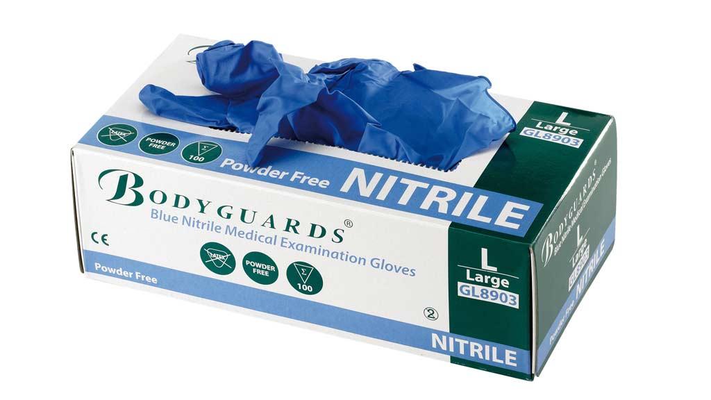 Gants en nitrile pour les interventions en dentisterie équine